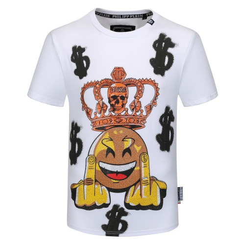 Philipp Plein PP T-Shirts Short Sleeved O-Neck For Men #784720 $26.19 USD, Wholesale Replica Philipp Plein PP T-Shirts
