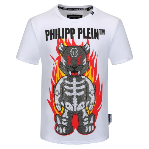 Philipp Plein PP T-Shirts Short Sleeved O-Neck For Men #784722 $26.19 USD, Wholesale Replica Philipp Plein PP T-Shirts