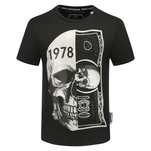 Philipp Plein PP T-Shirts Short Sleeved O-Neck For Men #784730 $26.19 USD, Wholesale Replica Philipp Plein PP T-Shirts