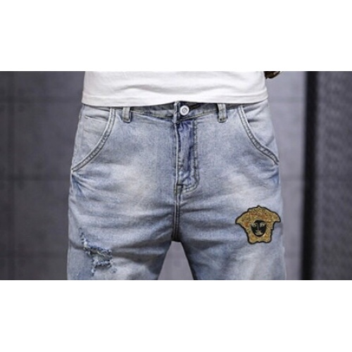 Replica Versace Jeans Trousers For Men #785350 $43.65 USD for Wholesale