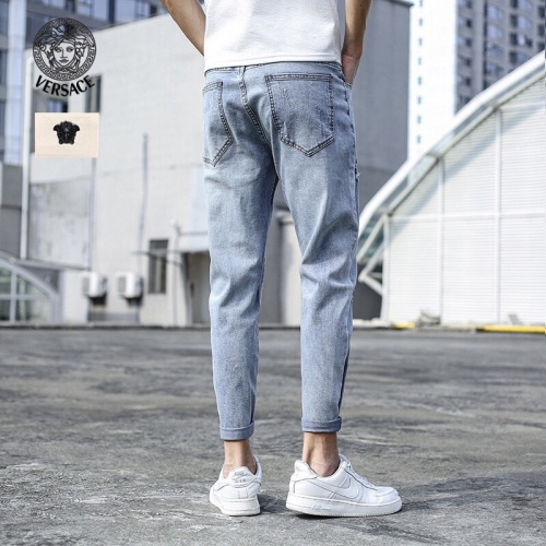 Replica Versace Jeans Trousers For Men #785351 $43.65 USD for Wholesale