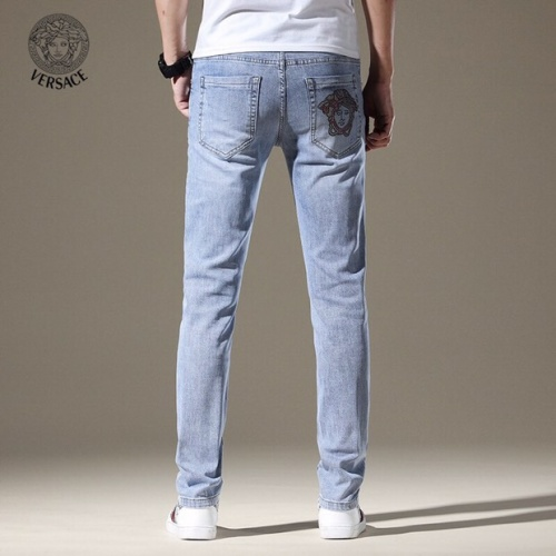 Replica Versace Jeans Trousers For Men #785352 $43.65 USD for Wholesale