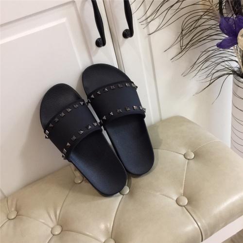 Valentino Slippers For Men #785458 $58.20 USD, Wholesale Replica Valentino Slippers