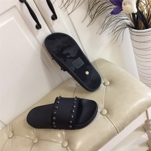 Replica Valentino Slippers For Men #785458 $58.20 USD for Wholesale