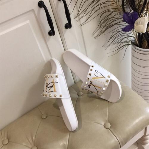 Replica Valentino Slippers For Men #785467 $62.08 USD for Wholesale