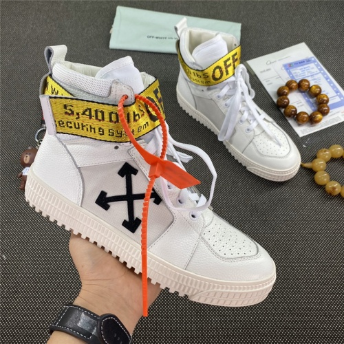 Off-White High Tops Shoes For Men #785524