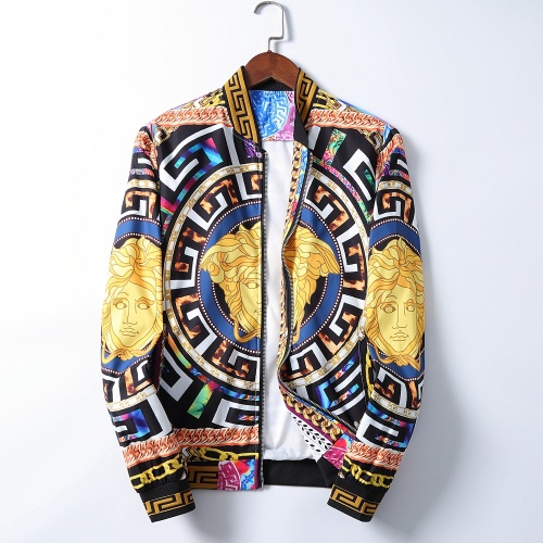 Versace Jackets Long Sleeved Zipper For Men #785596