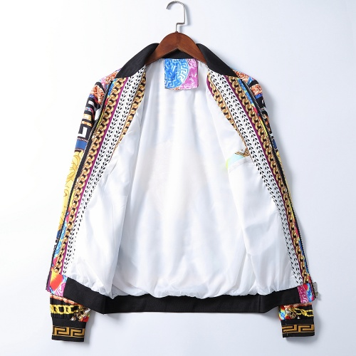 Replica Versace Jackets Long Sleeved Zipper For Men #785596 $50.44 USD for Wholesale