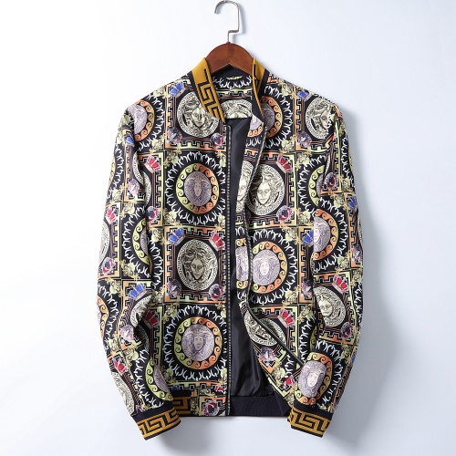 Versace Jackets Long Sleeved Zipper For Men #785599