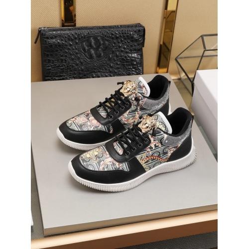 Versace Casual Shoes For Men #786353 $73.72 USD, Wholesale Replica Versace Casual Shoes