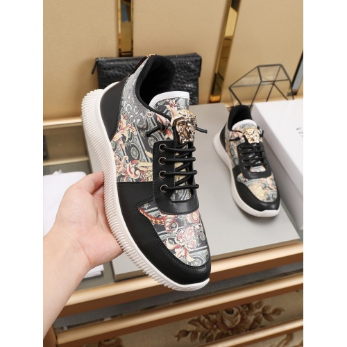 Replica Versace Casual Shoes For Men #786353 $73.72 USD for Wholesale