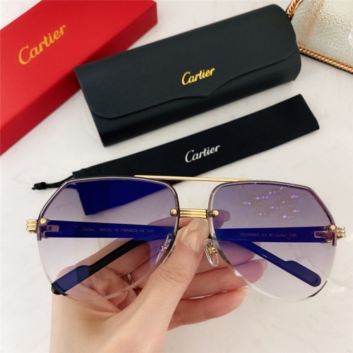 Cartier AAA Quality Sunglasses #786378
