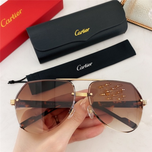 Cartier AAA Quality Sunglasses #786384