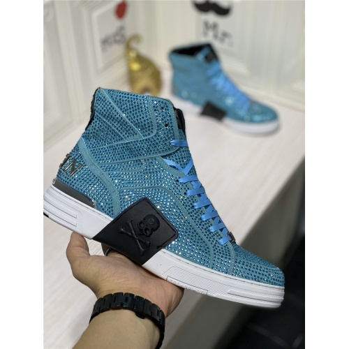 Replica Philipp Plein PP High Tops Shoes For Men #786506 $112.52 USD for Wholesale
