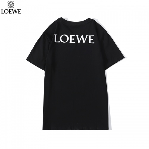 Replica LOEWE T-Shirts Short Sleeved O-Neck For Men #786925 $26.19 USD for Wholesale