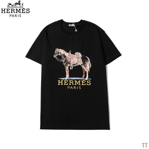 Hermes T-Shirts Short Sleeved O-Neck For Men #786962 $26.19, Wholesale Replica Hermes T-Shirts