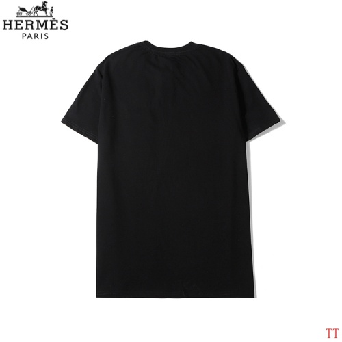 Replica Hermes T-Shirts Short Sleeved O-Neck For Men #786962 $26.19 USD for Wholesale