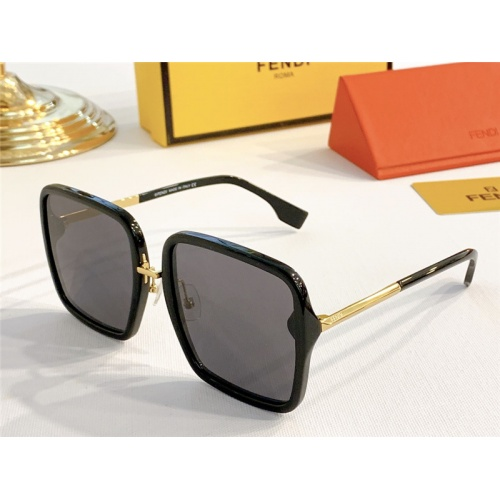 Fendi AAA Quality Sunglasses #787143