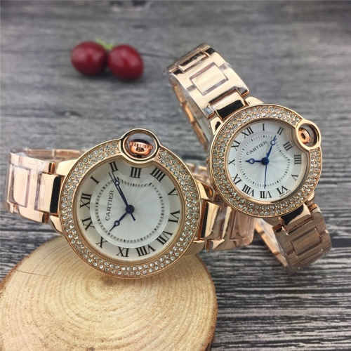 Cartier Couple Watches #787364 $25.22, Wholesale Replica Cartier Watches