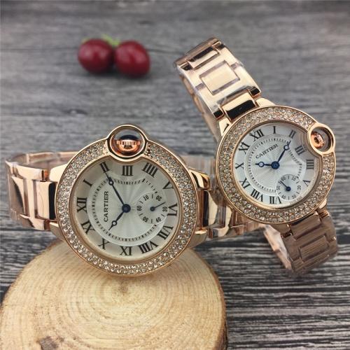 Cartier Couple Watches #787365 $25.22, Wholesale Replica Cartier Watches