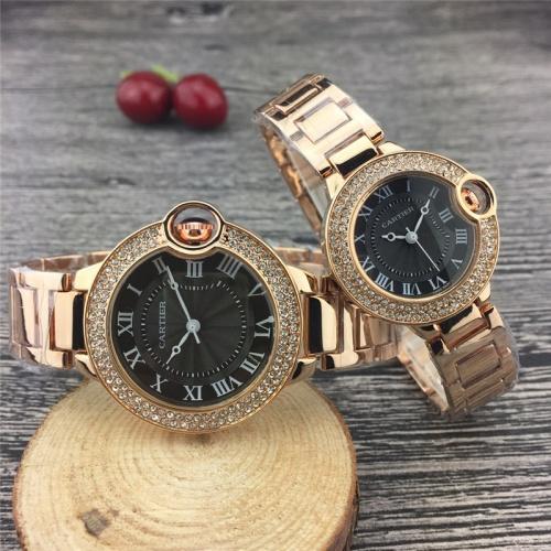 Cartier Couple Watches #787366 $25.22, Wholesale Replica Cartier Watches