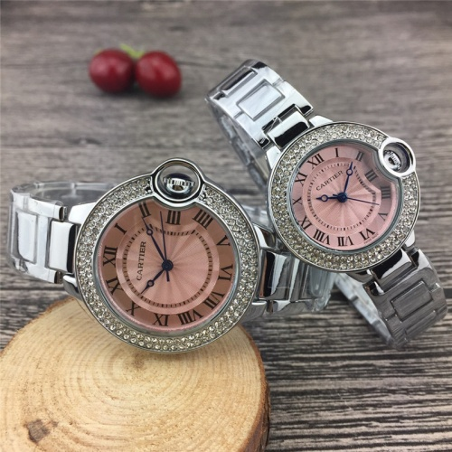 Cartier Couple Watches #787368 $25.22, Wholesale Replica Cartier Watches