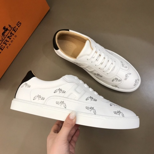 Replica Hermes Casual Shoes For Men #787836 $80.51 USD for Wholesale