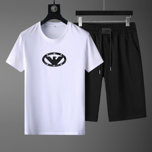 Armani Tracksuits Short Sleeved O-Neck For Men #789102