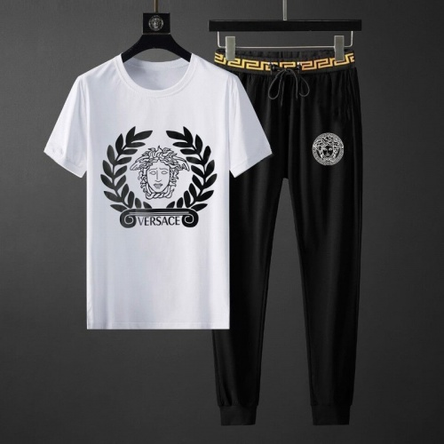 Versace Tracksuits Short Sleeved O-Neck For Men #789127 $65.96, Wholesale Replica Versace Tracksuits
