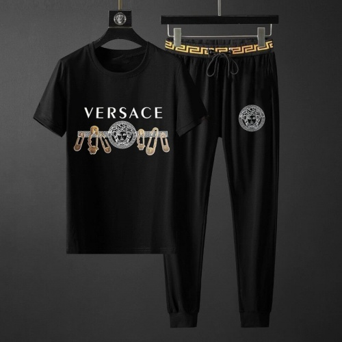Versace Tracksuits Short Sleeved O-Neck For Men #789134 $65.96 USD, Wholesale Replica Versace Tracksuits