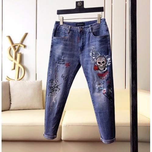 Philipp Plein PP Jeans Trousers For Men #789280 $46.56, Wholesale Replica Philipp Plein PP Jeans