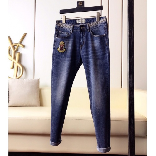 Burberry Jeans Trousers For Men #789287 $46.56 USD, Wholesale Replica Burberry Jeans