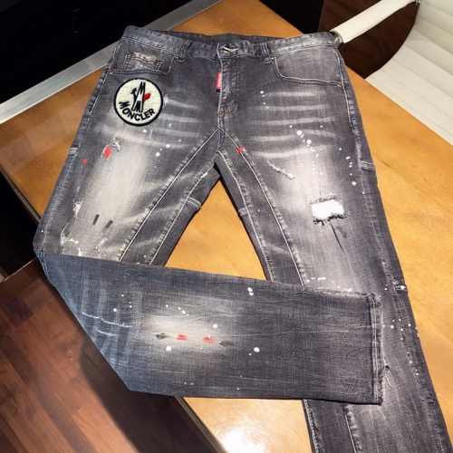 Replica Moncler Jeans Trousers For Men #789303 $46.56 USD for Wholesale