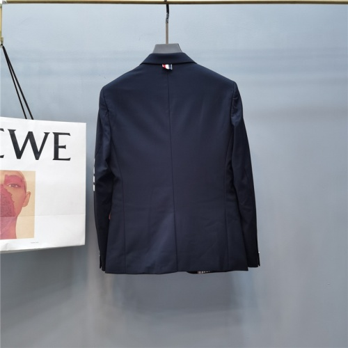 Replica Thom Browne Jackets Long Sleeved Polo For Men #789307 $85.36 USD for Wholesale