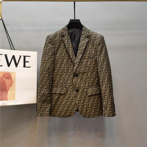 Fendi Jackets Long Sleeved Polo For Men #789310