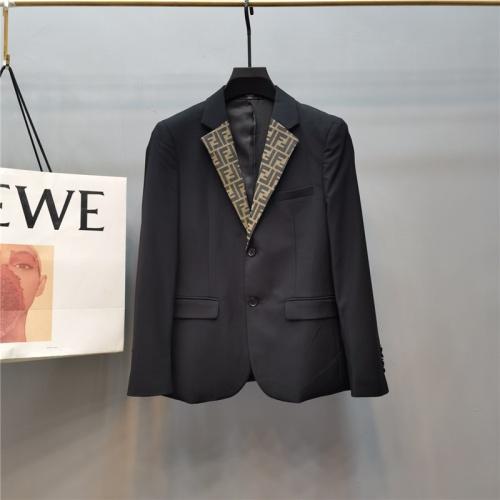 Fendi Jackets Long Sleeved Polo For Men #789311