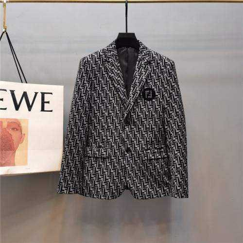 Fendi Jackets Long Sleeved Polo For Men #789312