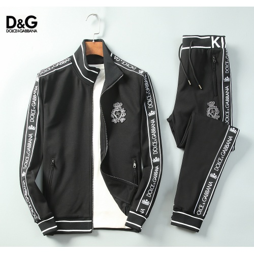 Dolce & Gabbana D&G Tracksuits Long Sleeved Zipper For Men #789380