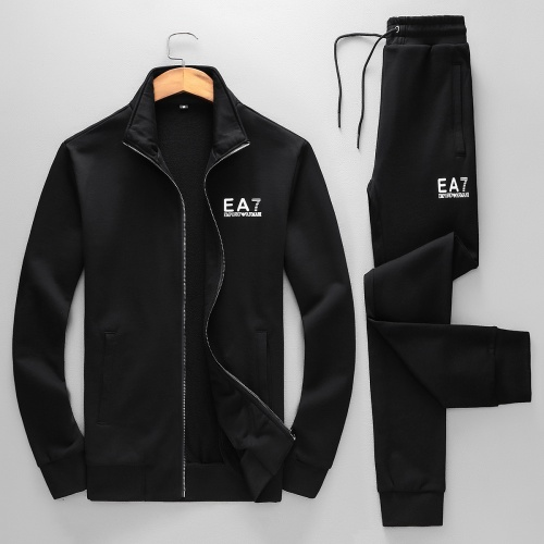 Armani Tracksuits Long Sleeved Zipper For Men #789383