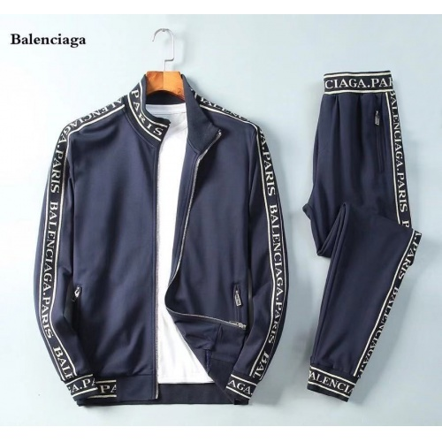Balenciaga Fashion Tracksuits Long Sleeved Zipper For Men #789391