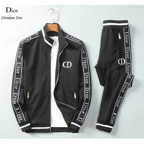 Christian Dior Tracksuits Long Sleeved Zipper For Men #789392 $95.06, Wholesale Replica Christian Dior Tracksuits