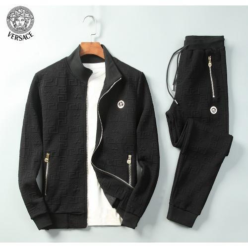 Versace Tracksuits Long Sleeved Zipper For Men #789395