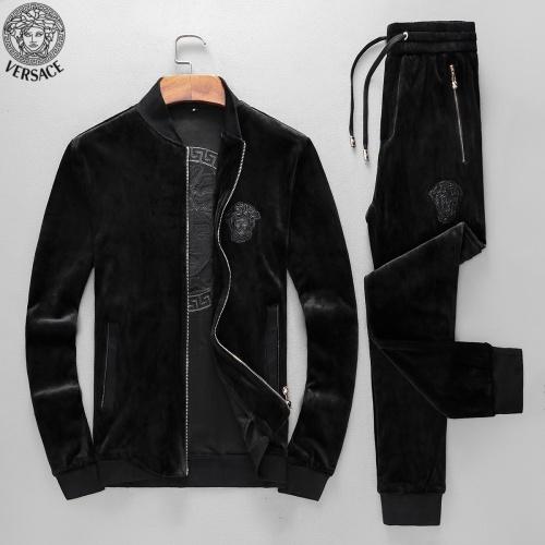 Versace Tracksuits Long Sleeved Zipper For Men #789396