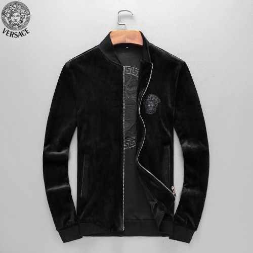 Replica Versace Tracksuits Long Sleeved Zipper For Men #789396 $98.94 USD for Wholesale