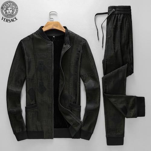 Versace Tracksuits Long Sleeved Zipper For Men #789397