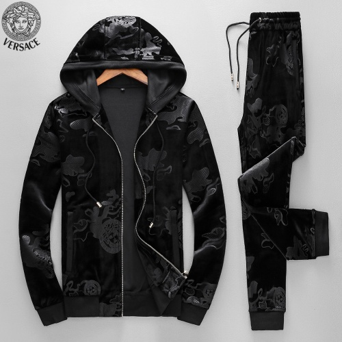 Versace Tracksuits Long Sleeved Zipper For Men #789398