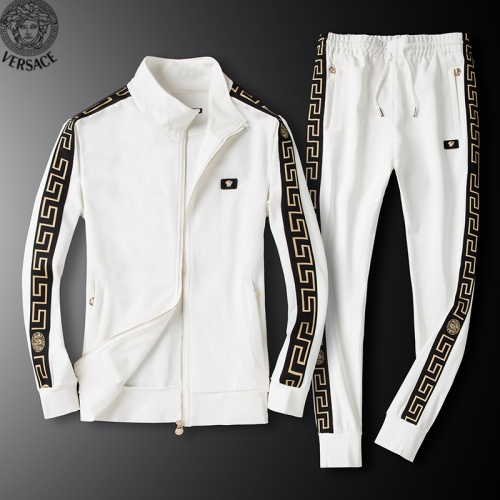 Versace Tracksuits Long Sleeved Zipper For Men #789399