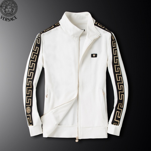 Replica Versace Tracksuits Long Sleeved Zipper For Men #789399 $95.06 USD for Wholesale