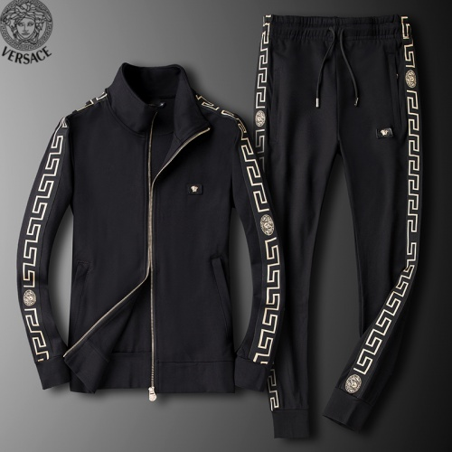 Versace Tracksuits Long Sleeved Zipper For Men #789400