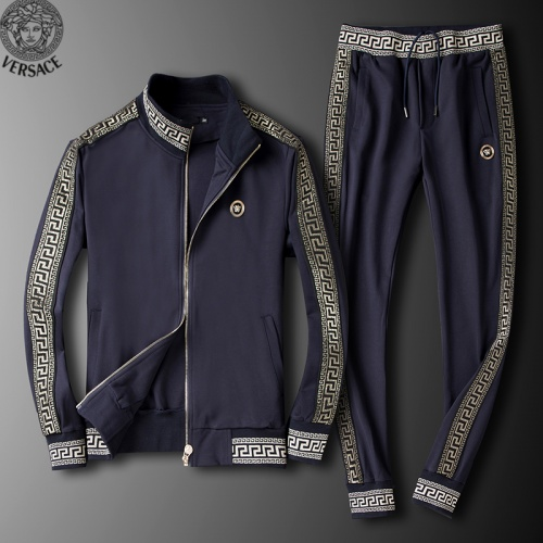 Versace Tracksuits Long Sleeved Zipper For Men #789401